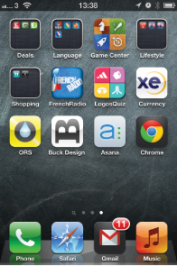 Iphone Home screen app icons