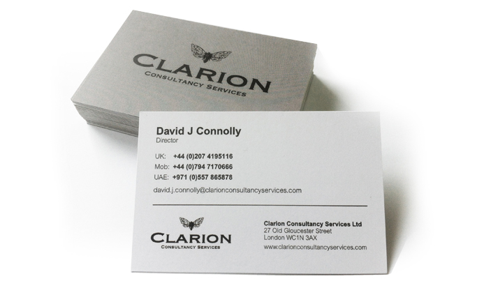 Clarion Business Cards