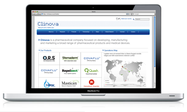 Clinova Website