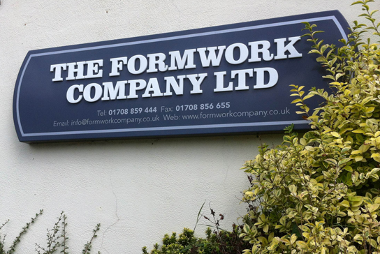 Formwork Company Sign