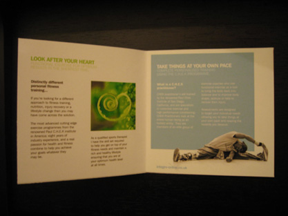 Integro Exercise & Lifestyle Coaching Brochure Spread 1