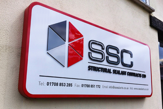 Structural Sealant Contracts signage